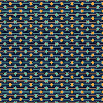 Seamless pattern of circle