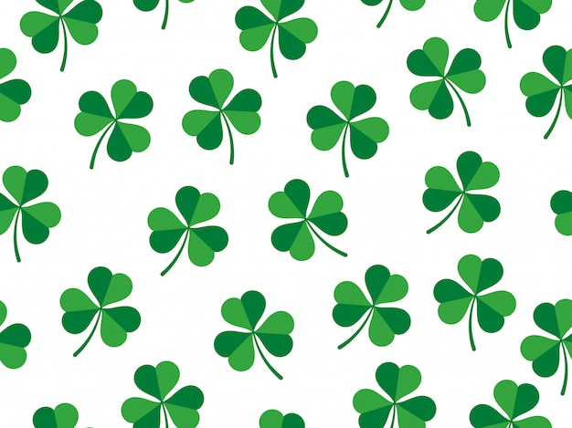 Seamless pattern of clover leaves