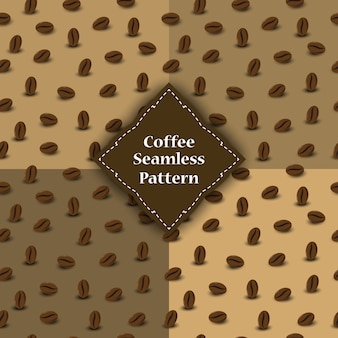 Seamless pattern of coffee beans for involucre