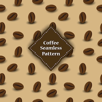 Seamless pattern of coffee beans for involucre.