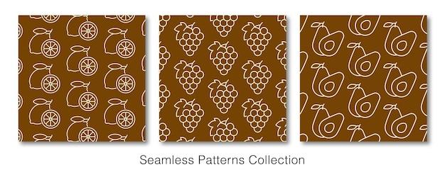 シームレスパターンコレクション装飾壁紙
