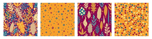 Seamless pattern collection leaves