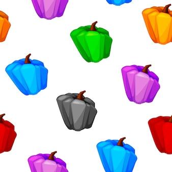 壁紙、ゲームデザインのためのシームレスなパターン色のカボチャ。