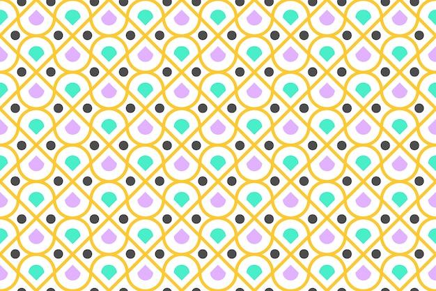 Seamless pattern of colorful geometric and circle modern