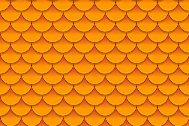 Seamless pattern of colorful orange fish scales
