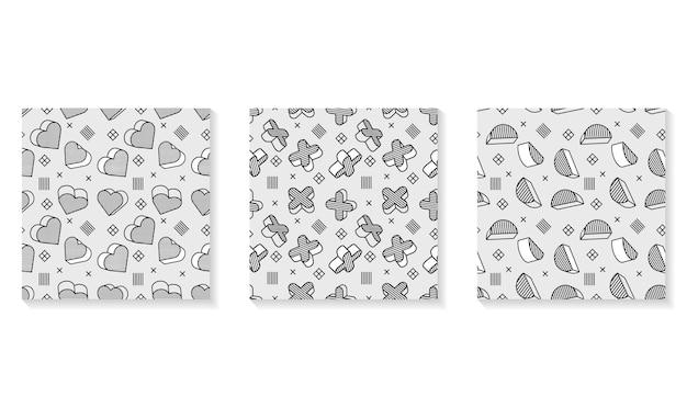 シームレスなパターン、3dグラフィック要素を持つカラフルなパターン。子供部屋の壁紙としても使えます