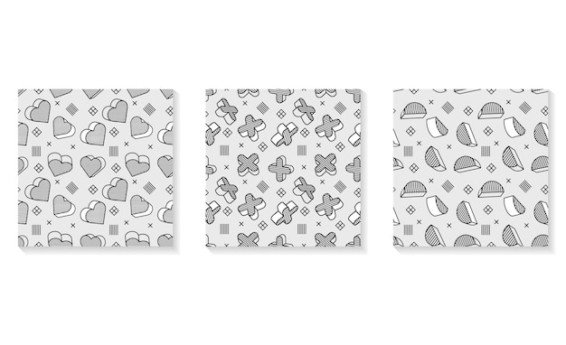 Seamless pattern, colorful pattern with 3d graphic elements. you can use this as a wallpaper in a childrens room