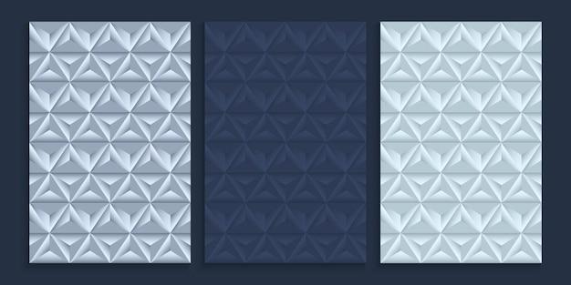 メタリックシルバーカラーのシームレスパターンカバーデザイン
