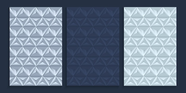 Seamless pattern cover design in metallic silver color