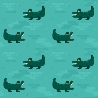 Seamless pattern crocodile