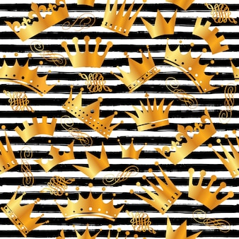 Seamless pattern of crowns