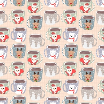 Seamless pattern a cup of coffee