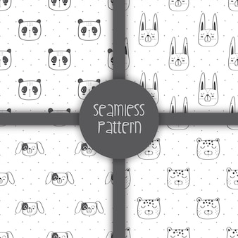 Seamless pattern of cute animals