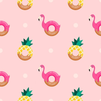 Seamless pattern cute donut