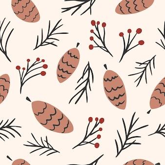 완벽 한 패턴입니다. 밝은 배경에 귀여운 숲 콘입니다.