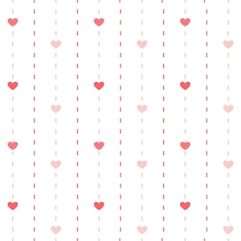 The seamless pattern of cute heart .