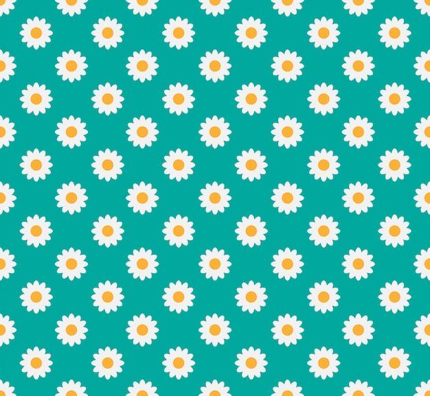 Seamless pattern of daisy flower