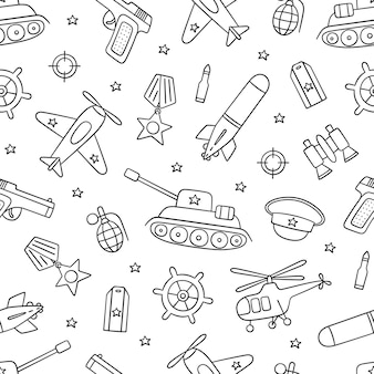 Seamless pattern for defender of the fatherland day
