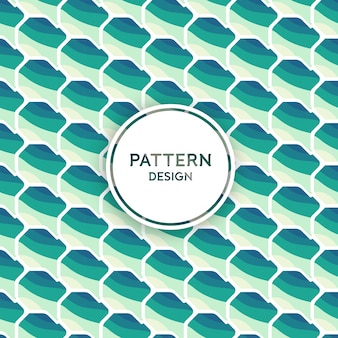Seamless pattern design - abstract shapes in ocean tones