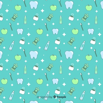 Seamless pattern design for dental clinic