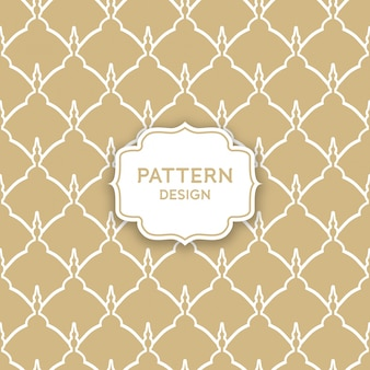 Seamless pattern design - golden arabic shapes