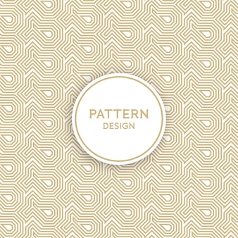 Seamless pattern design - golden geometric line pattern background