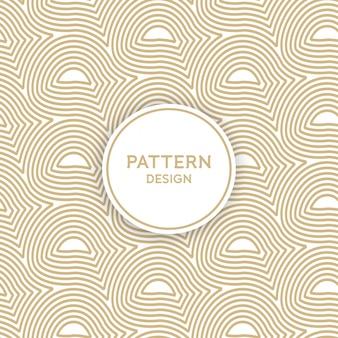Seamless pattern design - interweaving golden lines