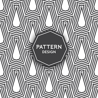 Seamless pattern design - lines forming geometric shapes