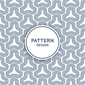 Seamless pattern design - lines forming geometrical shapes