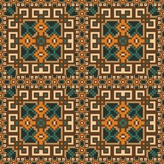 カーペットのシームレスパターン設計