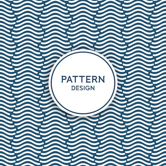 Seamless pattern design - wavy lines forming a column shape