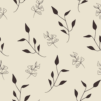 Seamless pattern design with floral elements