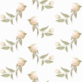 花と葉のシームレスなパターンデザイン