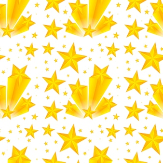 Seamless pattern design with yellow stars