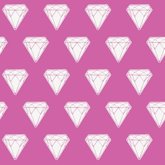 Seamless pattern of diamond,