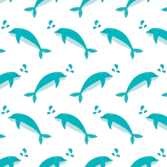 Бесшовные модели дельфин подводных животных концепции вектор