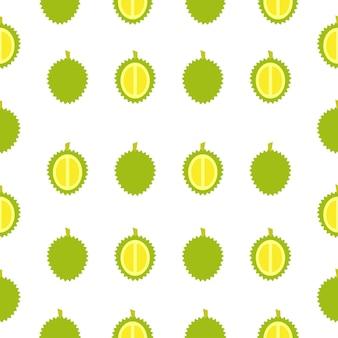 Seamless pattern of durian fruit