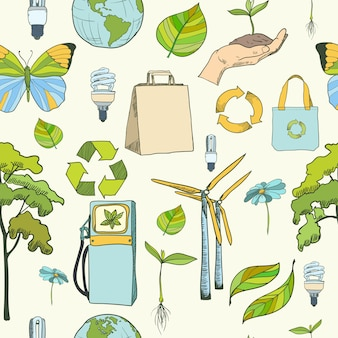Seamless pattern ecology and environment