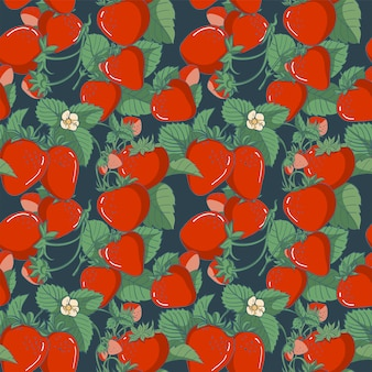Seamless pattern element strawberry, vector illustration