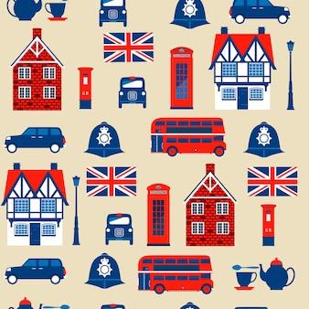Seamless pattern  of english  symbols
