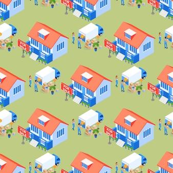 Seamless pattern family property transportation.