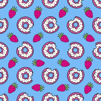 Seamless pattern of fashion patches fun icons vectorin 90s retro concept seamless pattern