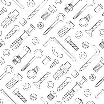 Seamless pattern of fasteners