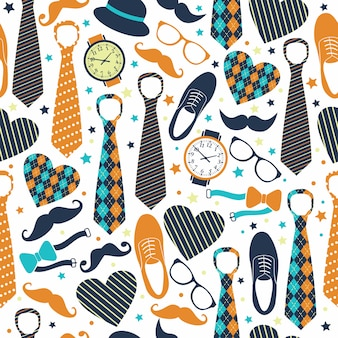 Seamless pattern of fathers day