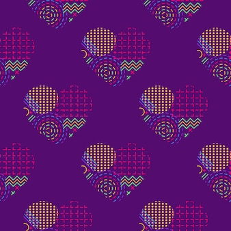 A seamless pattern featuring repeating abstract hearts