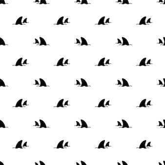 Seamless pattern fish dolphin whale cartoon