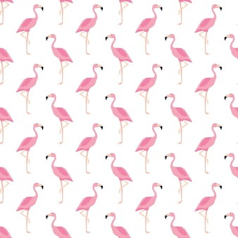 Seamless pattern, flamingo art background design for fabric and decor. vector, illustration