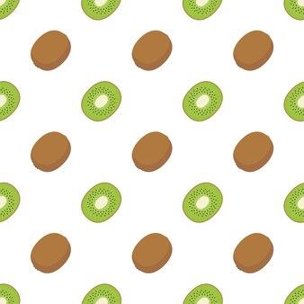 Seamless pattern flat kiwi