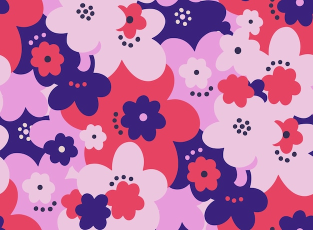 Бесшовный фон цветочный цветок абстрактный ботанический винтажный фон природа принт модный текстиль