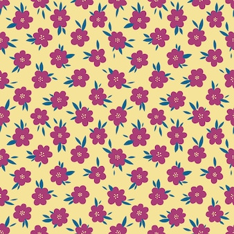 Seamless pattern floral hand drawn.